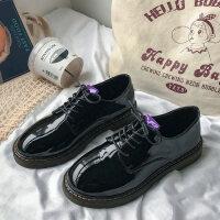 小皮鞋女英伦风增高复古森女系学生韩版百搭软底软妹皮鞋