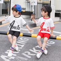 童装男童夏装套装宝宝短袖T恤两件套儿童休闲运动装