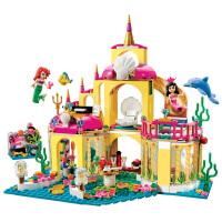 兼容乐高积木女孩儿童系列益智力玩具3-6周岁8美人鱼海底宫殿7-10岁 (灯光版)