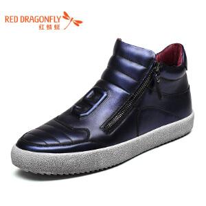红蜻蜓男鞋休闲鞋秋冬靴子男高帮WTD6306