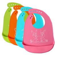 宝宝硅胶围兜防水婴儿饭兜软儿童吃饭食饭兜小孩口水围嘴喂饭兜