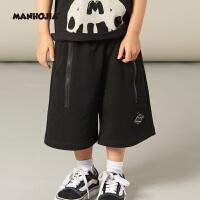 【2件2.5折:59元】MHJ漫画家童装男童针织7分裤短袖年夏新品七分裤短裤T