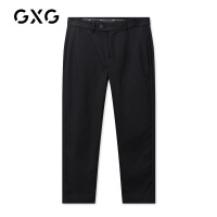 GXG男装 秋季男士时尚韩版帅气青年休闲裤男运动裤潮流黑色长裤