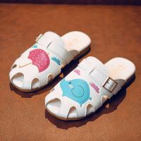夏季儿童凉鞋男童女童拖鞋卡通图案家居鞋时尚童鞋