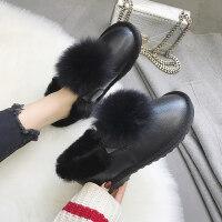 加绒雪地靴女短筒冬季2018新款鞋子潮韩版冬鞋学生棉鞋百搭面包鞋
