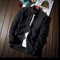 【秋冬新品】高端专柜品牌秋季白衬衫男士长袖修身韩版潮流帅气ins网红衬衣青少年学生打底