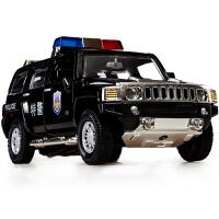 彩珀 正品保障 汽车玩具车 回力合金车模型 悍马H3 警车