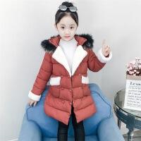 4-5-11女童装10冬季9小女孩8学生7加厚6冬装羽绒保暖外套12岁