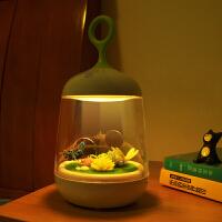小夜灯充电池七彩变色定时梦幻氛围卧室不插电