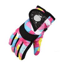 儿童手套冬滑雪保暖手套加厚男童玩雪手套加绒防水骑车学生女手套