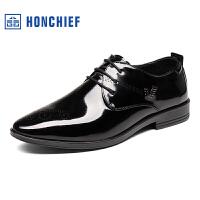 红蜻蜓旗下品牌 HONCHIEF男鞋商务休闲皮鞋秋冬鞋子男KTA7222