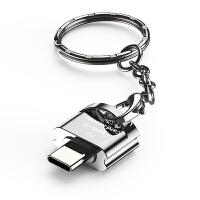 读卡器手机tf内存卡转type-c安卓micro通用便携otg多合一二合小型迷你多功能u盘相机高速3.0转换器USB2
