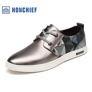 红蜻蜓旗下品牌  HONCHIEF  男鞋休闲鞋秋冬鞋子男板鞋KTA1229