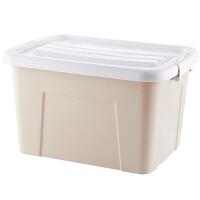 三件套整理箱塑料特大号清仓装衣服的收纳箱带轮子的储物箱