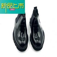 新品上市欧美男靴新款潮个性漆皮套筒皮靴男士高帮鞋休闲中帮马丁靴男靴子