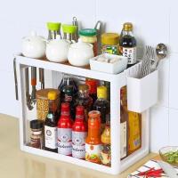 双层厨房置物架刀架调味料餐具收纳盒厨具用品用具筐2层储物架子