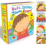 Karen Katz凯伦 卡茨 经典纸板书 动物之声 Buzz Splash Zoom Roar 英文原版绘本 立体翻