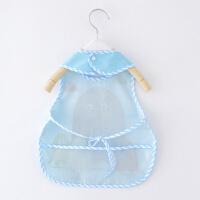 宝宝吃饭罩衣防水儿童印花围裙薄款小孩围衣婴儿无袖围兜夏季