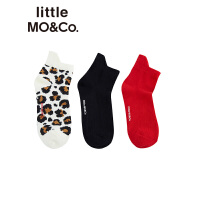 littlemoco秋季新品童装袜子女童不对称袜口设计透气棉儿童袜子
