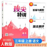 2020秋拔尖特训三年级上册语文部编人教版