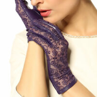 宴会礼服手套女士开车蕾丝防晒手套韩版羊皮手套防滑