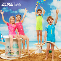 ZOKE洲克新款儿童男女童泳衣海底拼接可爱速干游泳衣宝宝防晒泳衣116504403