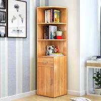 简易书架 创意书架子简约现代带抽屉小书柜多功能组合转角置物架大容量收纳置物柜子