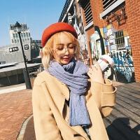 围巾女冬季韩版百搭长款日系加厚学生冬天保暖针织毛线围脖