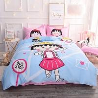 儿童纯棉卡通床上用品四件套可爱女孩床笠款全棉床单被套3三件套4
