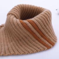 女孩冬季假领装饰套脖围脖高领男孩口水巾新款婴儿短毛绒儿童