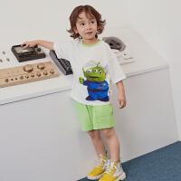 【4月3日0点开抢 4折价:64】迷你巴拉巴拉男童薄款短袖套装夏新款玩具总动员儿童宽松衣服