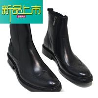 新品上市秋季马丁靴男士靴子真皮英伦雕花男靴子短靴潮皮靴高帮男鞋