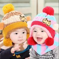 婴儿帽子秋冬6-12个月冬天1-2岁女宝宝儿童小孩毛线帽男童冬季潮0