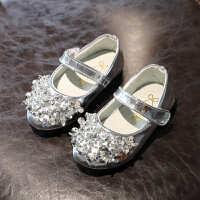 童鞋女童皮鞋2018春秋季新款儿童水钻公主单鞋宝宝小女孩鞋子