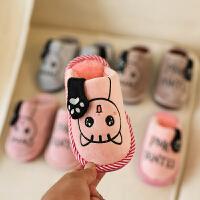 冬季儿童棉拖鞋卡通可爱男女宝宝棉鞋宝宝室内中小童家居拖鞋