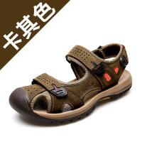2019夏季男士牛皮户外沙滩鞋男鞋休闲凉鞋男鞋子男潮一件