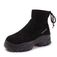 马丁靴女2018秋季新款英伦风韩版女鞋单靴春秋内增高短靴坡跟靴