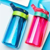 夏季儿童水杯女宝宝背带水壶幼儿园小学生水瓶可爱便携夏天吸管杯