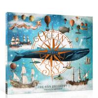 顺丰发货 英文原版Ocean Meets Sky 海天相接 2019年凯特格林威大奖绘本 范氏兄弟Terry Fan