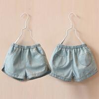 儿童牛仔短裤夏装女童童装爱心百搭短裤子