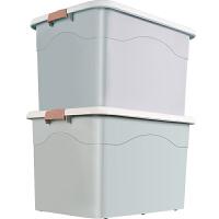 衣服收纳箱盒塑料特大号宿舍整理箱车载后备储物箱家用装书储蓄箱