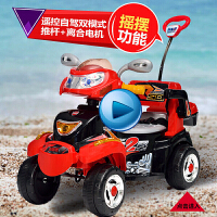 儿童电动车摩托车四轮摩托遥控摇摇车推车童车电动玩具车带音乐