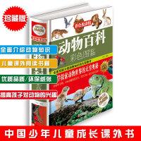 动物百科彩色图鉴 儿童青少年课外百科读物 全面系统介绍动物知识的大型图书 全彩珍藏版彩色悦读馆