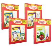 (300减100)英文原版 美国加州教材 Phonics Centers, PreK-3 自然拼读练习 4册 Evan