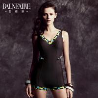 【全场包邮】范德安泳衣女 净版咖色 勾勒臀型胸型连体泳衣