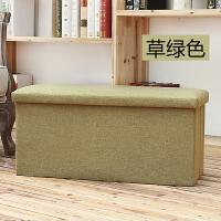 可折叠多功能收纳凳储物凳大号布艺长方形整理箱可坐凳子 长方形-110升【76*38*38CM】