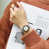 小众设计韩版时尚chic方形复古简约小表盘气质石英手表女防水