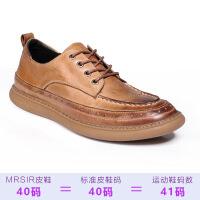 2019新款夏季新款皮鞋男真皮鞋韩版做旧擦色青少年小皮鞋