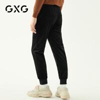 GXG男�b 秋季�r尚青年黑色�n版潮流束�_�子休�e�男