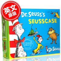 [现货]Dr. Seuss 苏斯博士绘本10册盒装英文原版Seuss case box set套装含cat in the hat/lorax/sneetches/ABC/I had duck feet